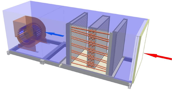 Wrap-Around Dehumidifier Heat Pipes installed in cooling coil section
